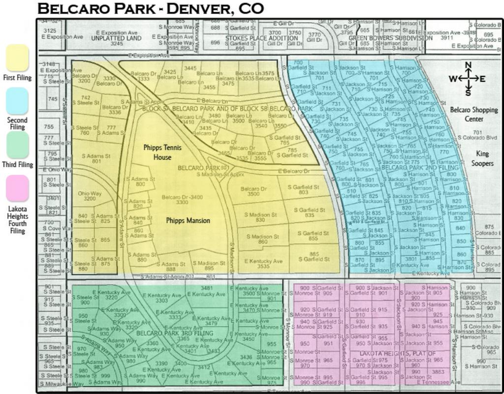 Belcaro Park Map